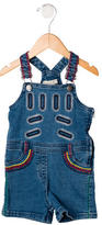 Stella McCartney Girls' Embroidered Denim Overalls