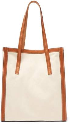 BEIGE Connolly - Canvas And Leather Tote Bag - Womens Multi