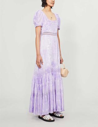 LoveShackFancy Ryan tiered cotton maxi dress
