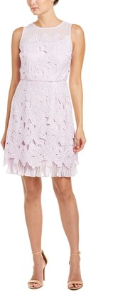 Adrianna Papell Women's Celcelia Lace with Pleated Kick Skirt
