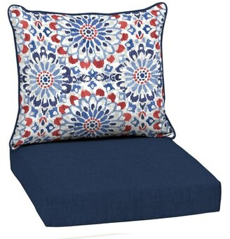 """Bungalow Rose Outdoor Seat/Back Cushion Size: 5.5"""" H x 24"""" W x 22"""" D"""