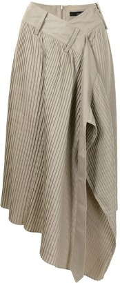 Rokh Pleated Wrap Skirt
