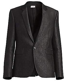 Saint Laurent Men's Floral Jacquard Wool Suit Jacket