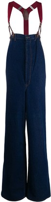 Jean Paul Gaultier Pre-Owned 1993 high rise suspender wide-legged jeans