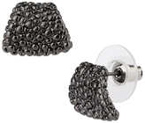Saachi Gunmetal Stone Stud Earrings