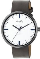 Simplify The 4500 Collection SIM4504 Gunmetal Analog Watch