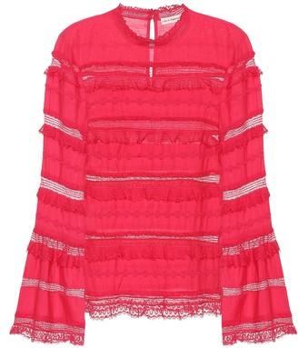 Ulla Johnson Grace cotton-blend blouse