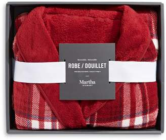 Martha Stewart Reversible Plush Robe