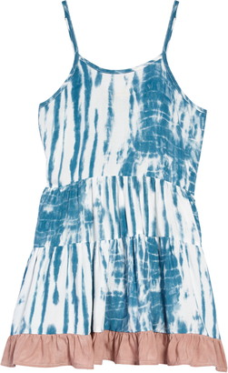 Vintage Havana Kids' Tie Dye Tiered Dress
