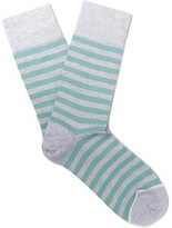 John Smedley Tobin Striped Sea Island Cotton-blend Socks