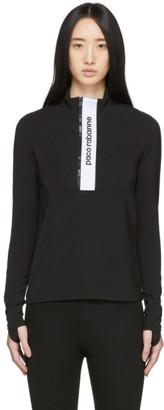 Paco Rabanne Black Bodyline Half-Zip Sweatshirt