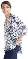 Joe Fresh Women's Print Peasant Top, White 2 (Size S)