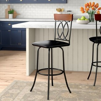 Darby Home Co Charry Adjustable Height Bar Stool