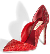 Valentino Rouge Absolute Crystal Suede Scallop Pump