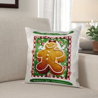 The Holiday Aisleâ® Mcquillen Gingerbread Girl Babys First Christmas Great Granddaughter Pillow Cover The Holiday AisleA