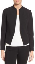 Halogen Mandarin Collar Open Front Jacket (Regular & Petite)