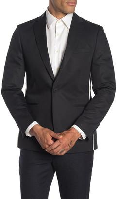 Calvin Klein Black Slim Fit Pipe Trim Suit Separate Jacket