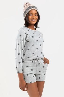 francesca's franki Basic Star Shorts for Girls - Gray