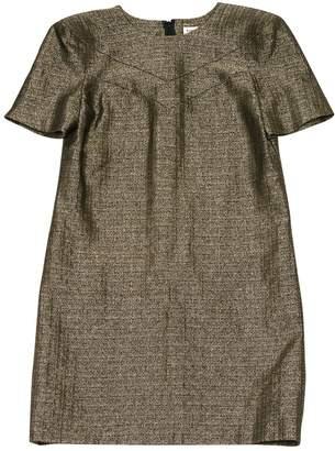 Saint Laurent Gold Wool Dresses