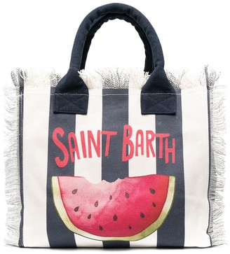 MC2 Saint Barth Watermelon Print Beach Bag