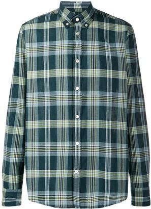 Deperlu Long Sleeve Checked Print Shirt