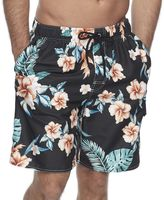 Croft & Barrow Men's Floral Microfiber Swim Trunks
