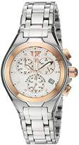 Technomarine Women's Quartz Watch with Silver Dial Chronograph Display and Silver Stainless Steel Bracelet TM-215023