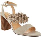 C. Wonder Suede Block Heel Sandals w/ Fringe -Gabrielle