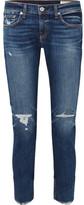 Rag & Bone Dre Distressed Mid-rise Slim-leg Jeans