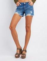 Charlotte Russe Refuge Girlfriend Cut-Off Denim Shorts