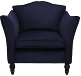 Duresta Vaughan Armchair, Harrow Velvet Navy