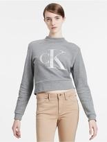Calvin Klein Jeans Cotton French Terry Logo Cropped Sweatshirt
