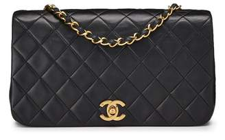 Chanel Black Quilted Lambskin Full Flap Small