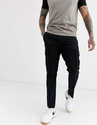 Diesel P-Jared slim fit cargo trousers in black