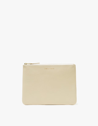 Comme des Garcons Men's Classic Leather SA5100 Wallet in White