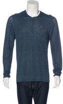 John Varvatos 2015 Linen Henley Sweater