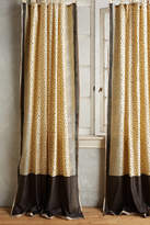 Anthropologie Speckled Silk Curtain