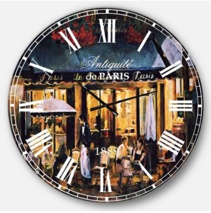 Design Art Designart French Country Oversized Metal Wall Clock