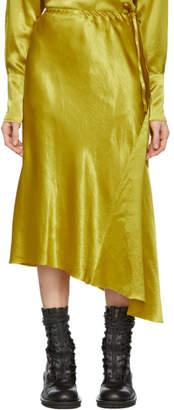 Ann Demeulemeester Yellow Asymmetric Magya Skirt