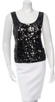 Anna Sui Sequined Mesh Top