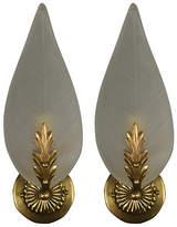One Kings Lane Vintage Italian Glass Foliate Sconces