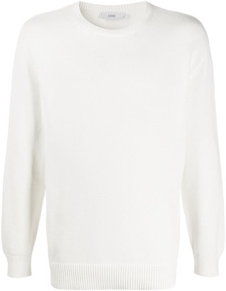 Closed Crew Neck Dropped Shoulders Pullover
