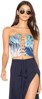 Indah Sea Batik Smocked Top in Blue. - size L (also in )