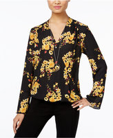 INC International Concepts Petite Printed Surplice Blouse, Only at Macy's