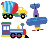 Olive Kids Wallies Wall Decals, Trains, Planes and Trucks Wall Stickers