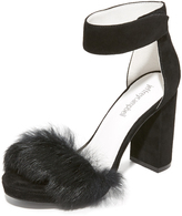 Jeffrey Campbell Lindsay Fur Sandals