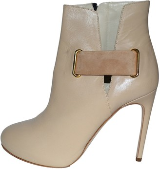 Rupert Sanderson Beige Leather Ankle boots
