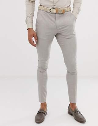 Selected skinny suit pants in sand-Beige