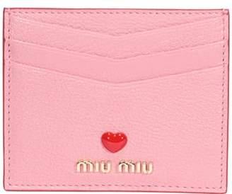 Miu Miu Madras Love Cards Holder