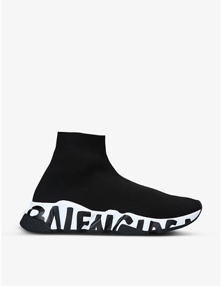 Balenciaga Speed logo-print knitted high-top trainers